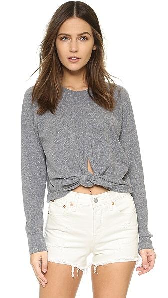 MONROW Cropped Knot Sweatshirt