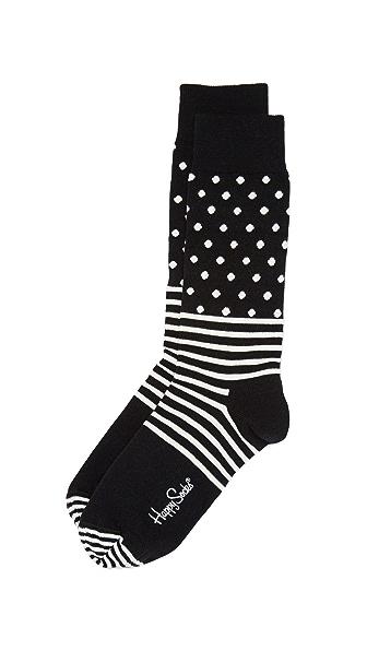 HS Stripe Dot Socks