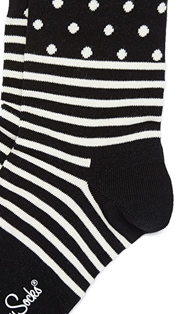 HS Stripe Dot Socks