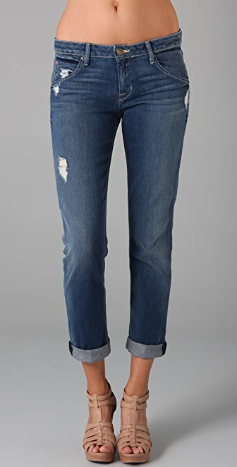 Hudson Bacara Cropped Straight Leg Jeans
