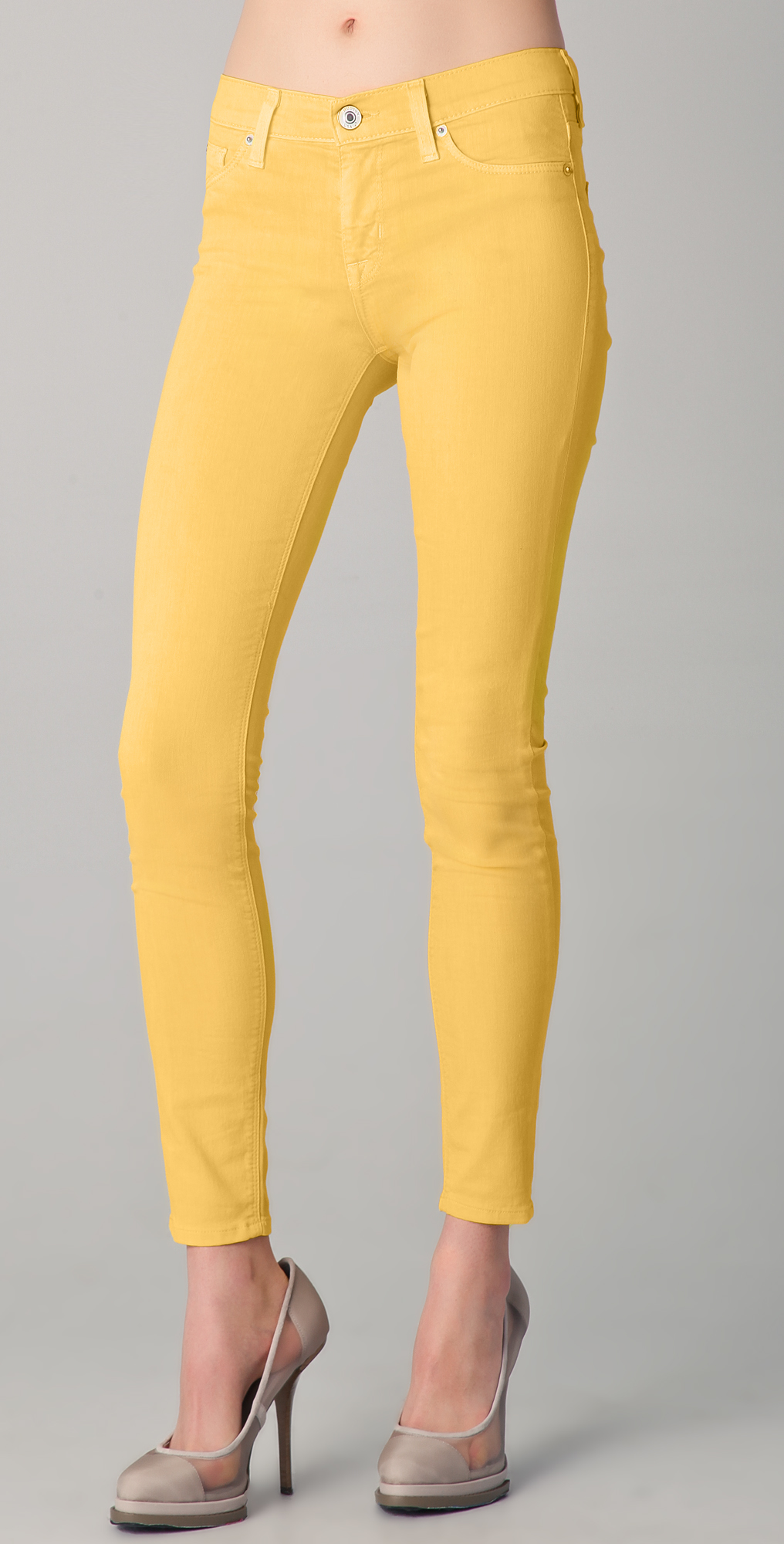 Hudson yellow skinny jeans