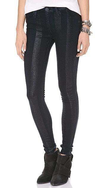 Hudson Lurex Stripe Nico Skinny Jeans