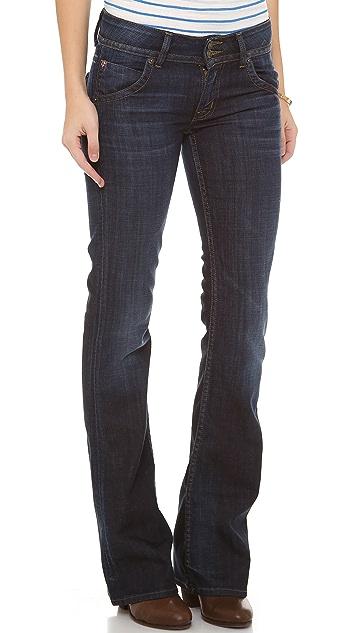 Hudson Signature Mid Rise Boot Cut Jeans