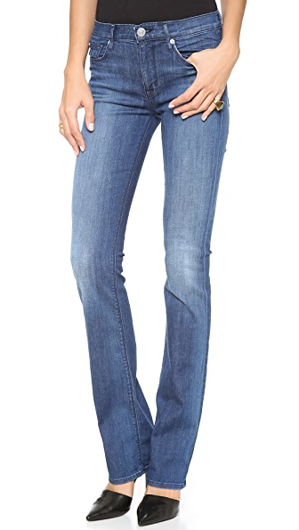 Hudson Elle Mid Rise Baby Boot Cut Jeans