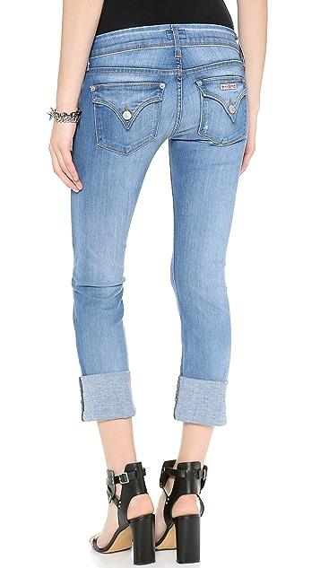 Hudson Ginny Crop Straight Cuffed Jeans