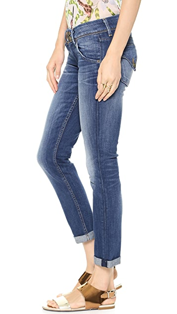 Hudson Kylie Crop Skinny Jeans with Cuffs
