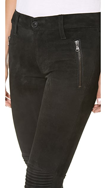 Hudson Stark Leather Moto Pants