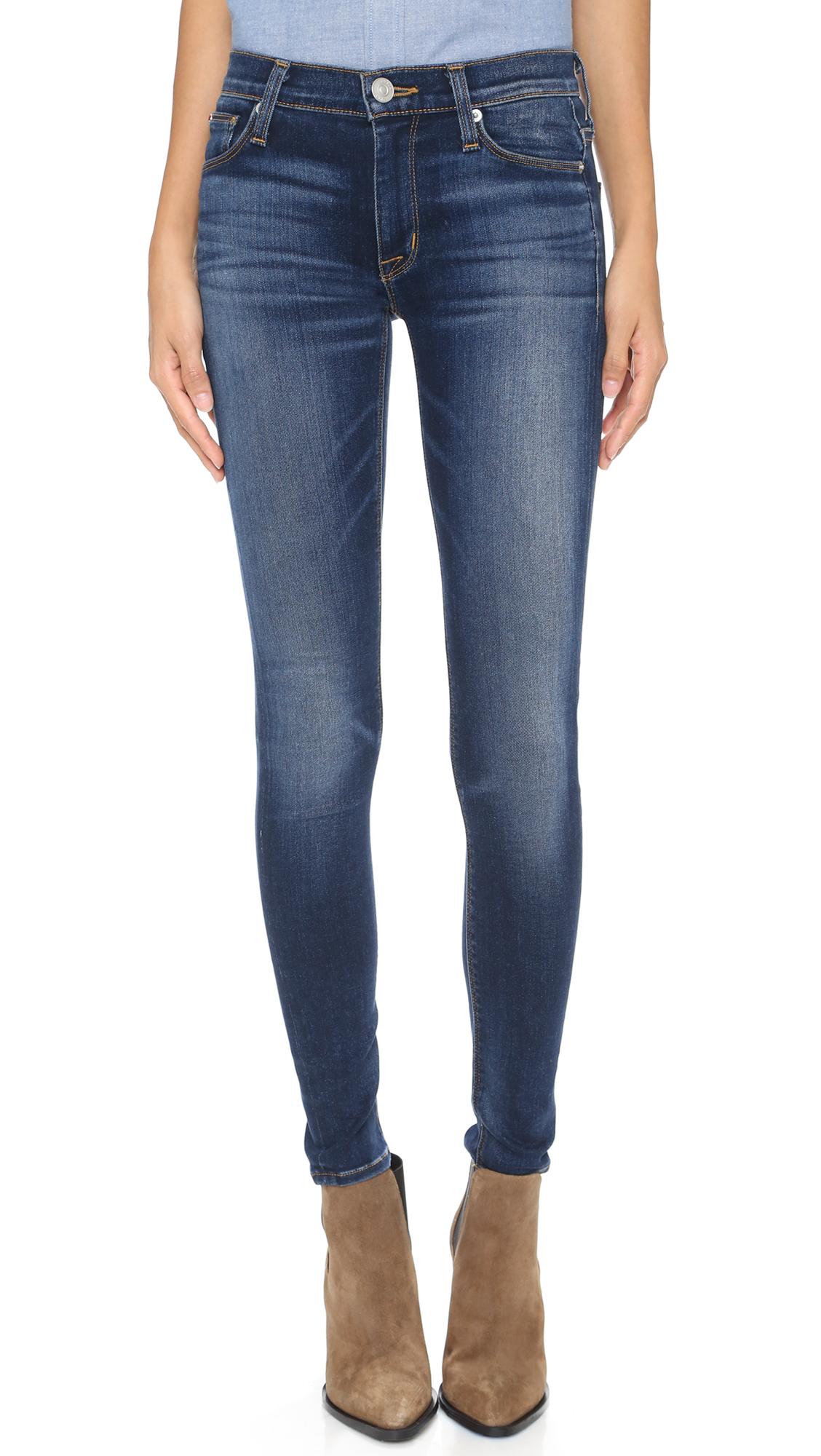 Hudson Nico Elysian Mid Rise Skinny Jeans - Blue Gold at Shopbop