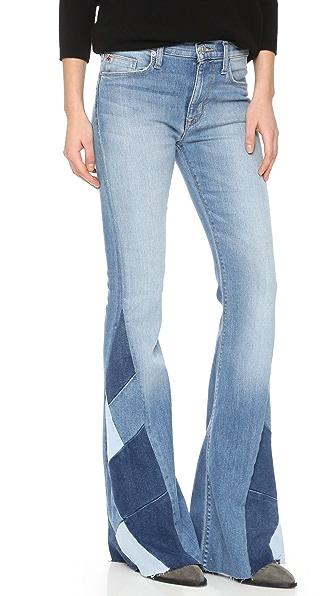 Hudson Laurel Patchwork Flare Jeans | 15% off first app purchase ...