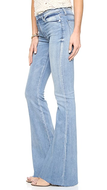 Hudson Tyler Cut Off Flare Jeans