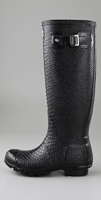 Hunter Boots Boa Snake Embossed Rubber Boots