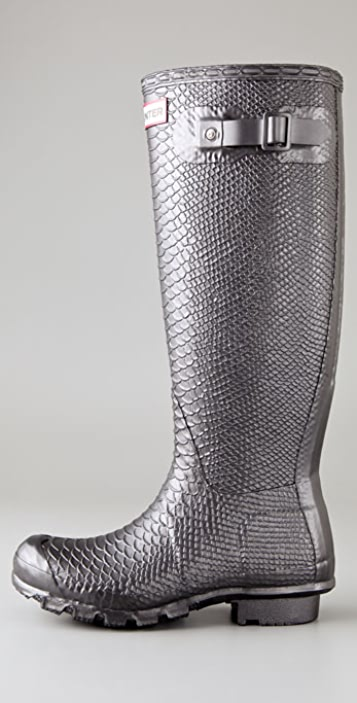 Hunter Boots Carnaby Collection Metallic Boa Boots