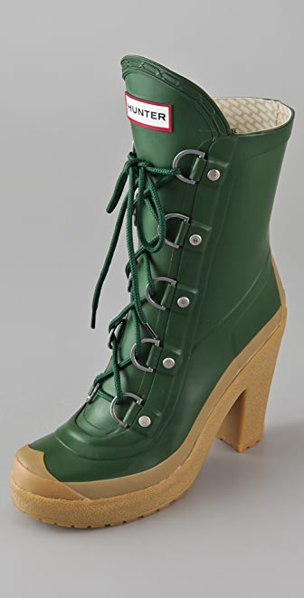 Hunter Boots Gabby Lace Up High Heel Boots