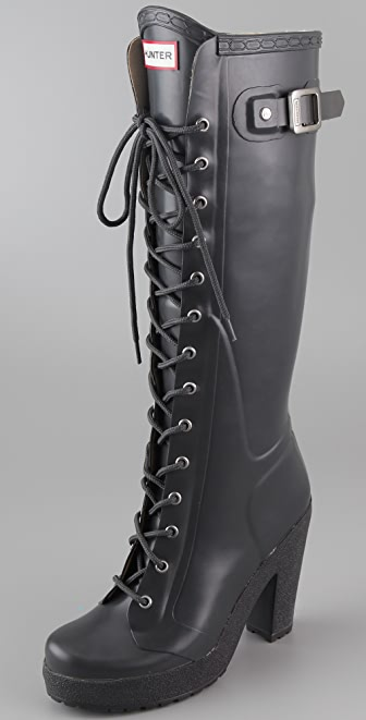 Hunter Boots Lapins Lace Up High Heel Boots