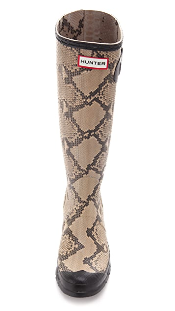 Hunter Boots Carnaby Snake Rain Boots