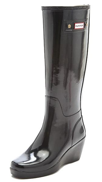 Hunter Boots Moss Wedge Boots