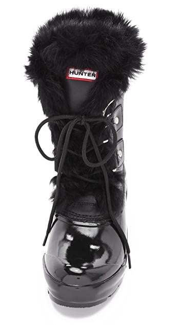 Hunter Boots Cathie Boots with Fur Trim