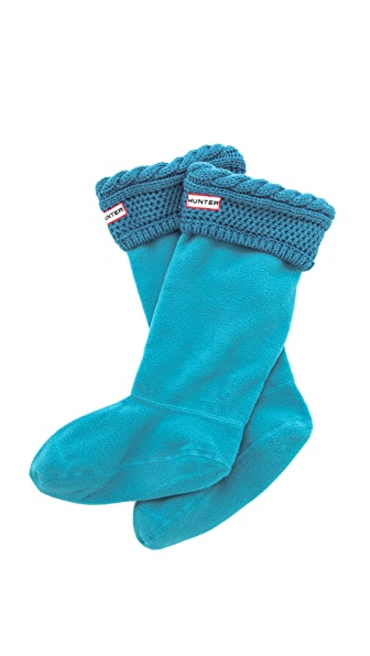 Hunter Boots Moss Cable Welly Socks