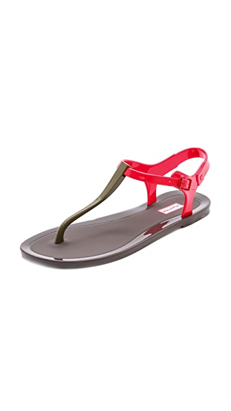 Hunter Boots Original T Strap Sandals