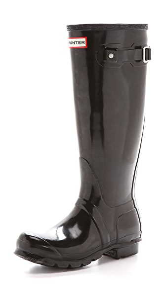 Hunter Boots Original Tall Gloss Boots - Black