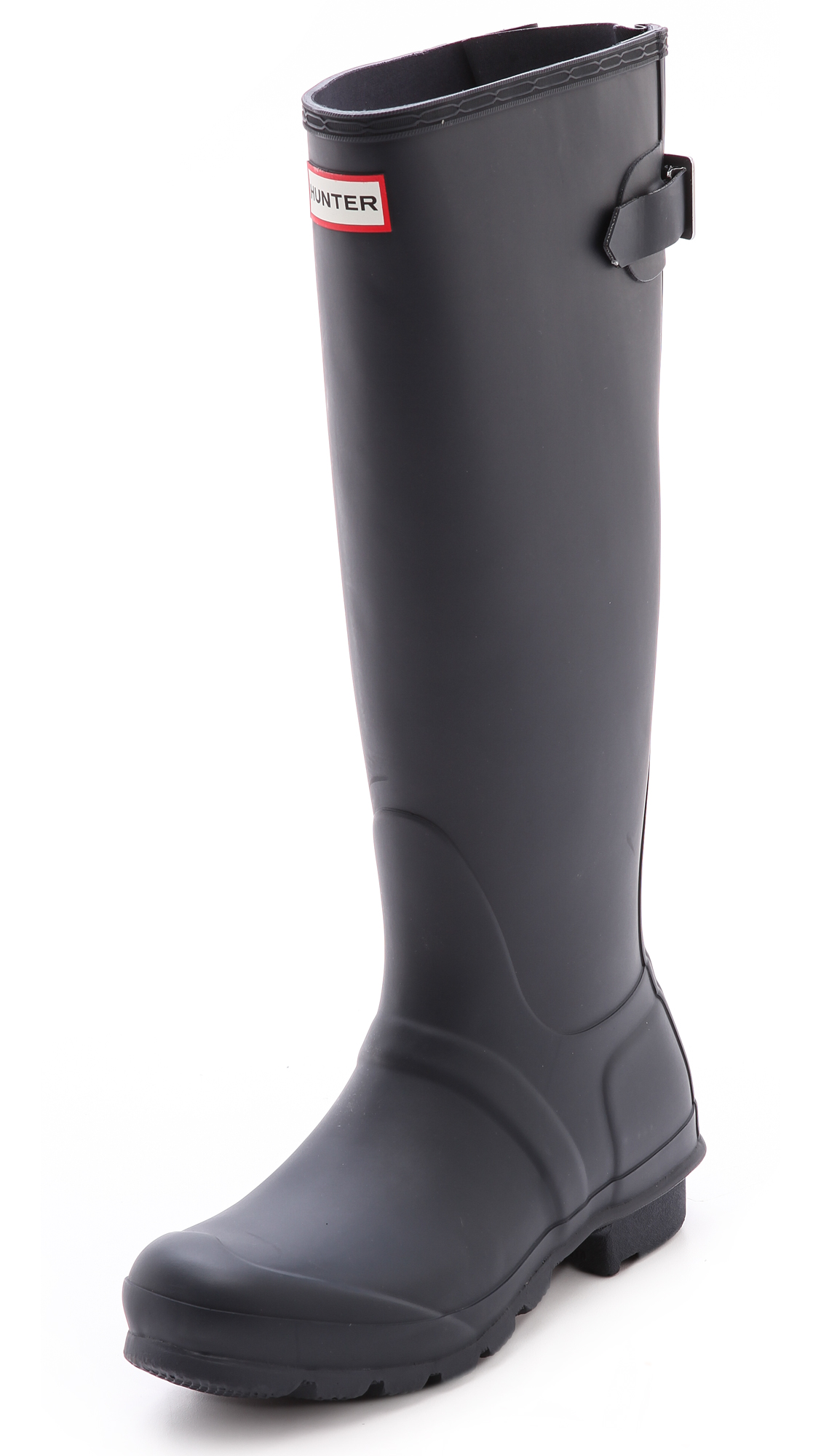 Hunter Boots Original Back Adjustable Boots - Navy at Shopbop