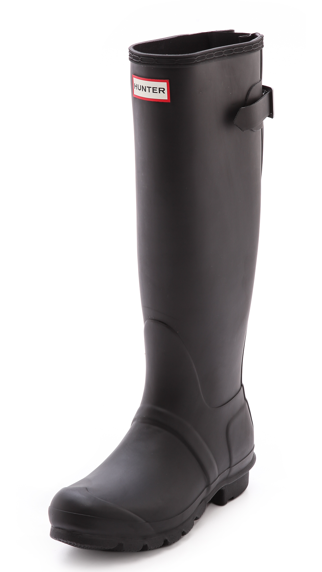 Hunter Boots Original Back Adjustable Boots - Black at Shopbop