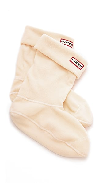 Short Fleece Welly Boot Socks in Cream