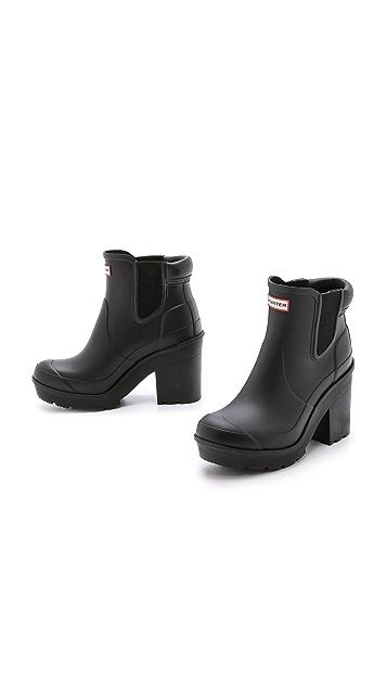 Hunter Boots Original Block Heel Chelsea Boots