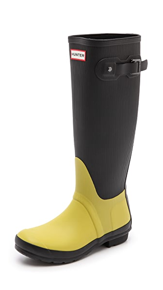 Hunter Boots Original Ribbed Leg Tall Boots