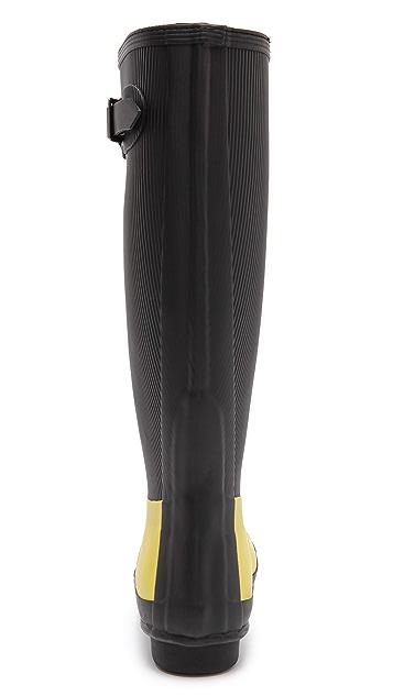 Hunter Boots Original Ribbed Leg Tall Boots