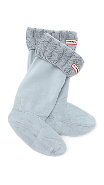 Shop Hunter Boots online and buy Hunter Boots 6 Stitch Cable Boot Socks Porcelain Blue shoes online