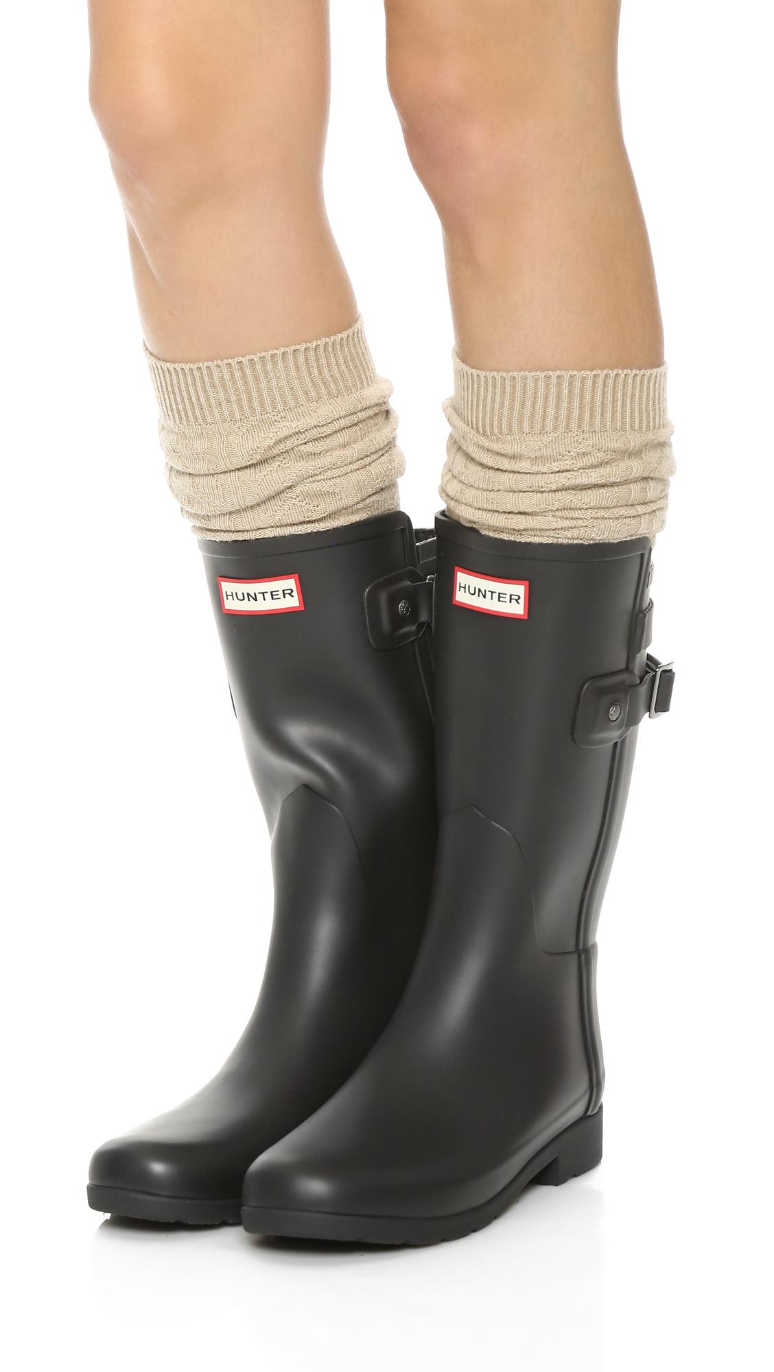 Hunter Original Refined Back Strap Short Gloss Boot grUlOE24o