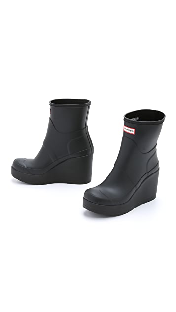 Hunter Boots Original Mid Wedge Short Booties
