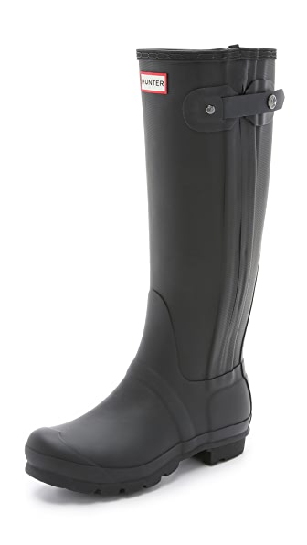 Hunter Boots Original Slim Zip Textured Boots