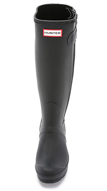 Hunter Boots Original Slim Zip Textured Boots