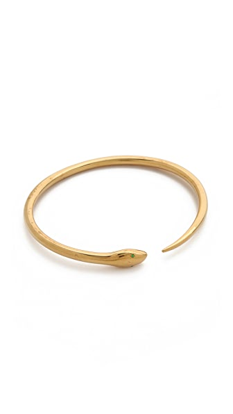 IaM by Ileana Makri Tiger Snake Y Bangle Bracelet