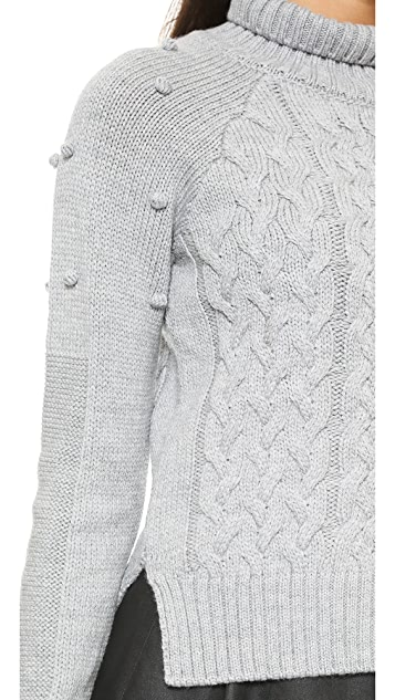 ICB Cable Knit Turtleneck Sweater