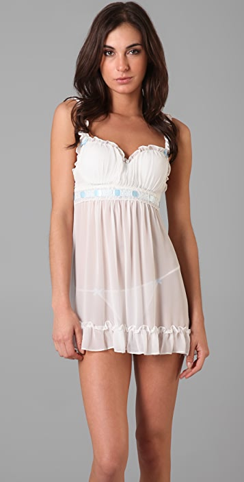 In Bloom by Jonquil Something Blue Baby Doll Chemise