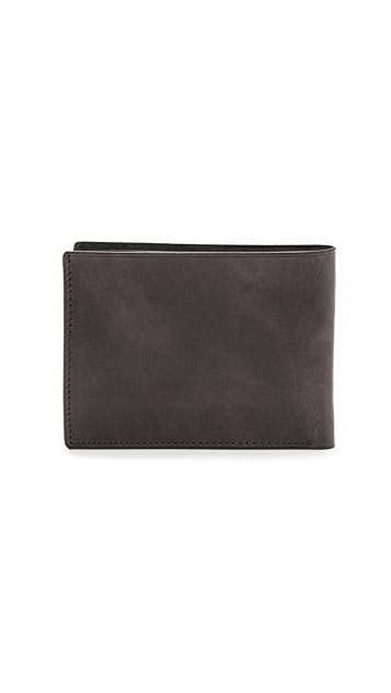Il Bussetto Burnished Leather Bifold Wallet