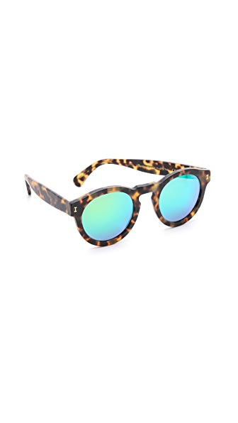 Illesteva Leonard Matte Mirrored Sunglasses at Shopbop