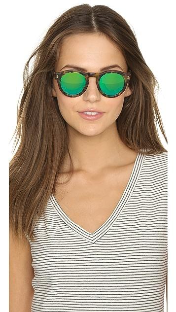 Illesteva Leonard Matte Mirrored Sunglasses