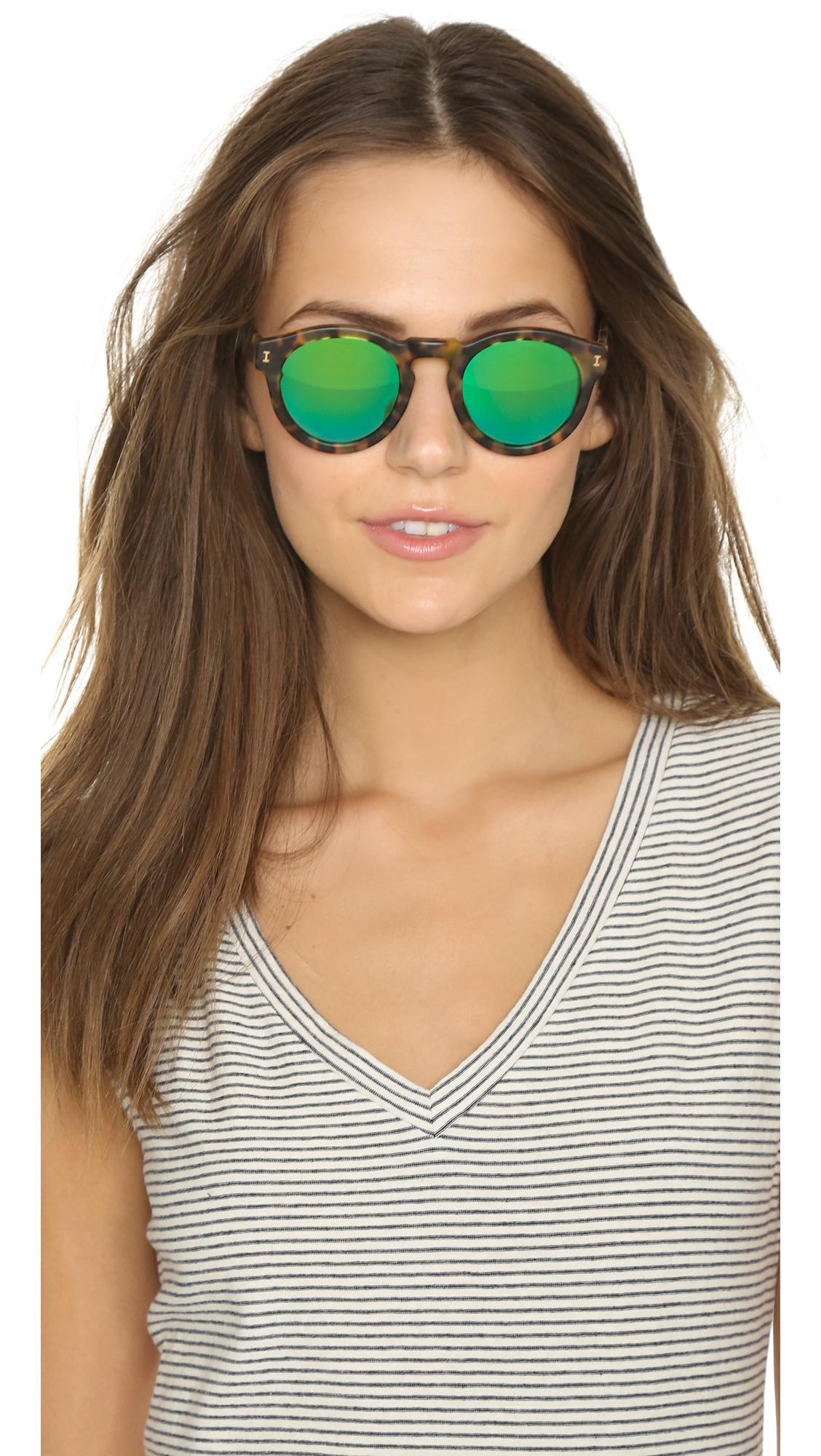 99cbd3107c8 Illesteva Leonard Matte Mirrored Sunglasses
