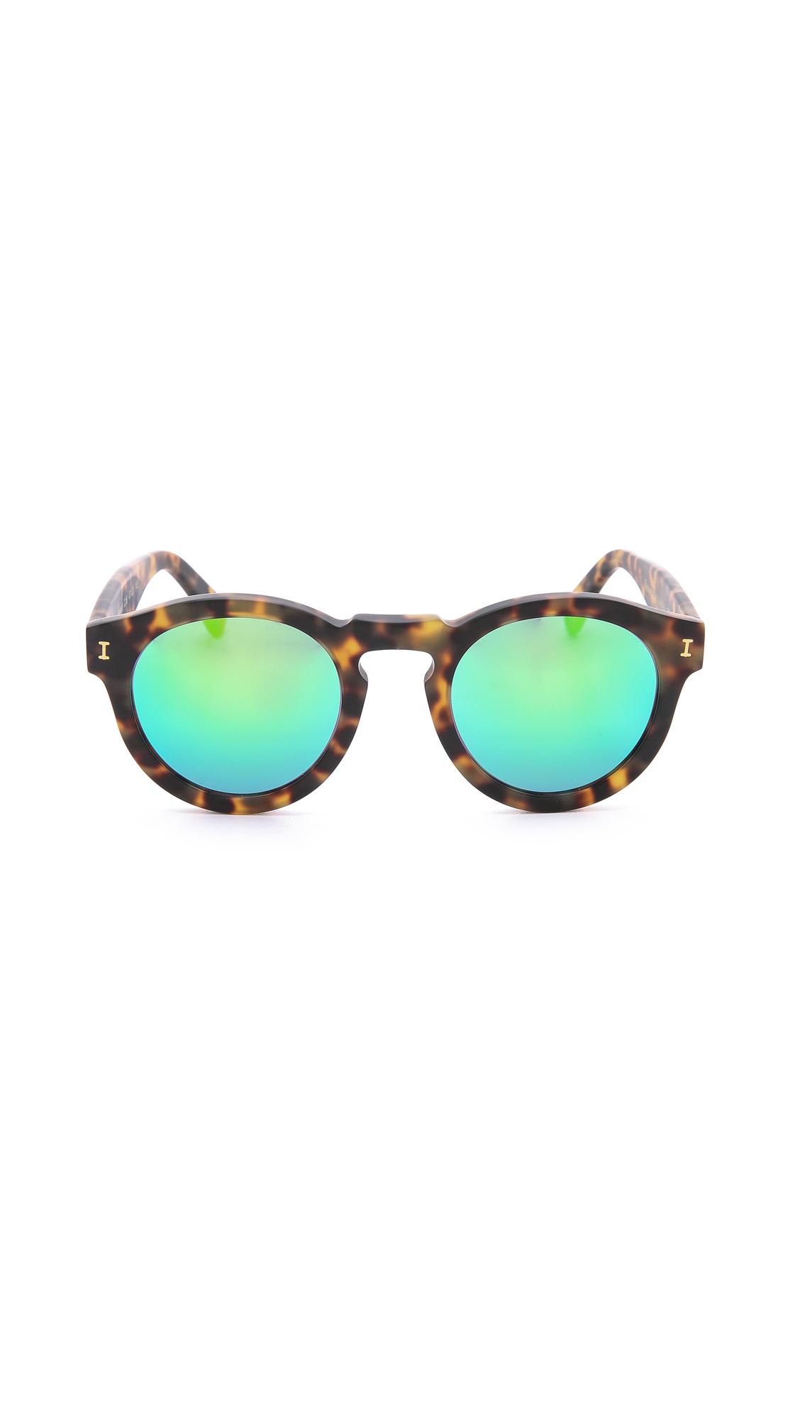 d1c158eefb5 Illesteva Leonard Matte Mirrored Sunglasses