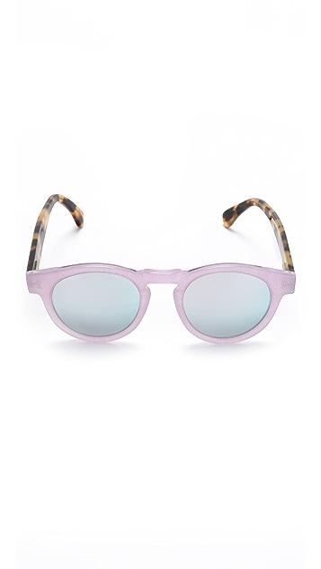 Illesteva Leonard Sparkle Mirrored Sunglasses