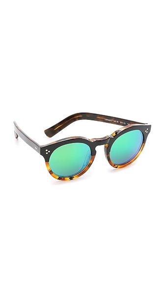 Illesteva Leonard II Half and Half Mirrored Sunglasses