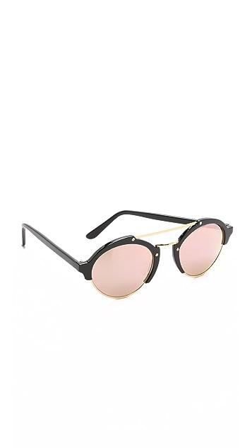 Illesteva Milan II Mirrored Sunglasses