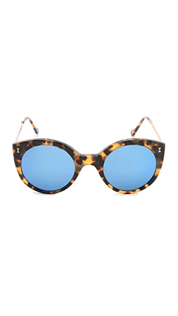 Illesteva Palm Beach Mirrored Sunglasses
