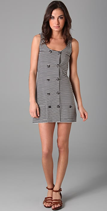 Imitation Striped Vest Dress