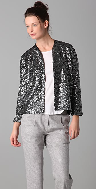 Imitation Tilla Sequin Cardigan