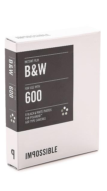 Impossible 600-Type Camera Black & White Instant Film